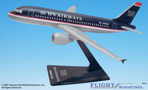 US Airways A319-100 (1:200), Flight Miniatures Snap-Fit Airliners, Item Number AB-31900H-005