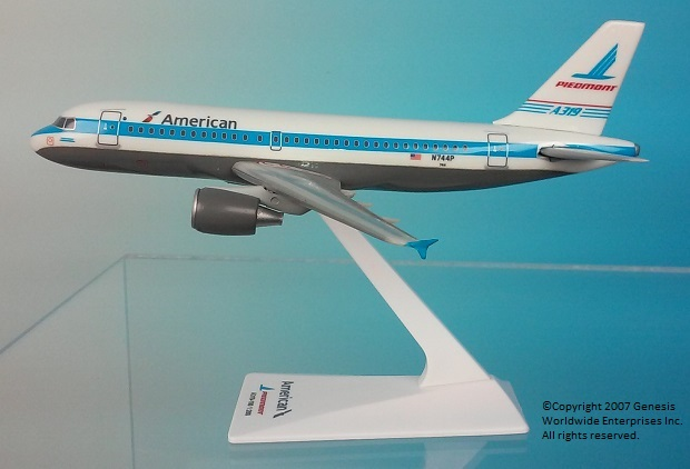 "American / Piedmont A319 ""Heritage Livery"" (1:200)"