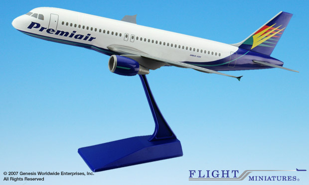 Premair A320-200 (1:100), Flight Miniatures Snap-Fit Airliners, Item Number AB-32020C-001