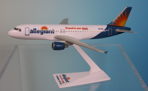"Allegiant Air A320-200 ""Travel is Our Deal"" (1:200), Flight Miniatures Snap-Fit Airliners, Item Number AB-32020H-061"