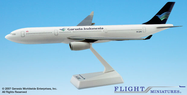 Garuda Indonesia A330-300 (1:200), Flight Miniatures Snap-Fit Airliners, Item Number AB-33030H-005