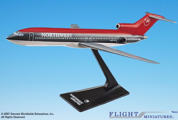 Northwest 727-200 (Old Colors) (1:200), Flight Miniatures Snap-Fit Airliners, Item Number FMNWA006