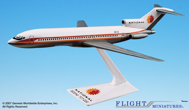 National 727-200 (1:200), Flight Miniatures Snap-Fit Airliners, Item Number FMNAL023