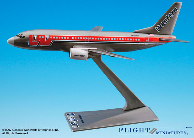 Western 737-300 (1:200), Flight Miniatures Snap-Fit Airliners, Item Number BO-73730H-004
