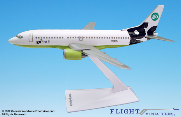Go Fly 737-300 (1:200), Flight Miniatures Snap-Fit Airliners, Item Number BO-73730H-018