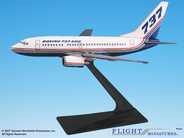 Boeing 737-600 House Colors (1:200), Flight Miniatures Snap-Fit Airliners, Item Number BO-73760H-001