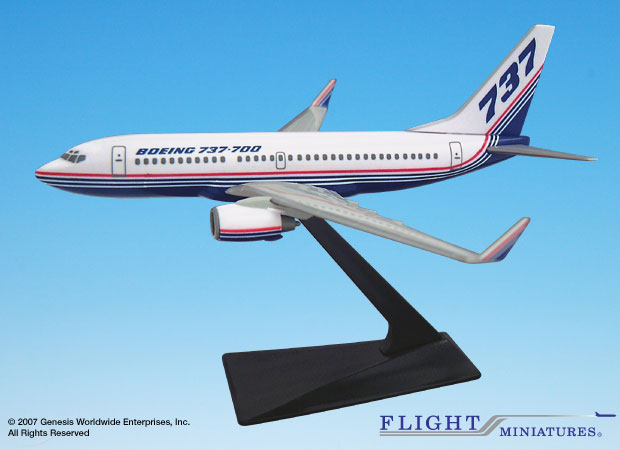 Boeing 737-700/w House Colors (1:200), Flight Miniatures Snap-Fit Airliners, Item Number BO-73770H-014
