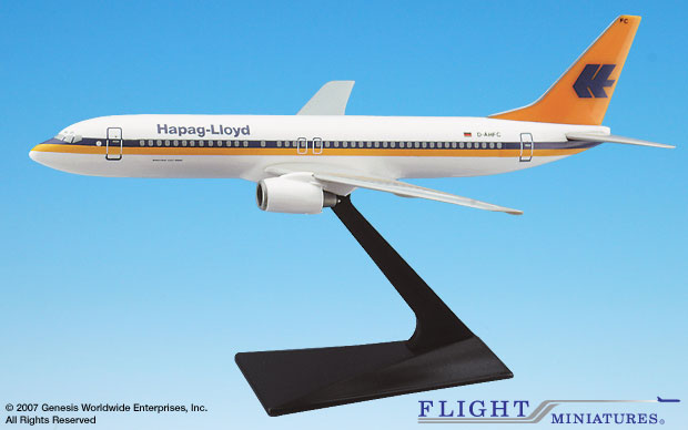 Hapag Lloyd B737-800 (1:200), Flight Miniatures Snap-Fit Airliners, Item Number BO-73780H-004