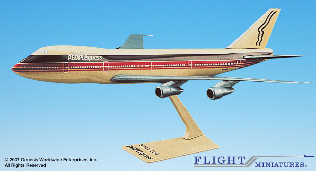 PEOPLExpress 747-100/200 (1:250), Flight Miniatures Snap-Fit Airliners, Item Number BO-74710I-013