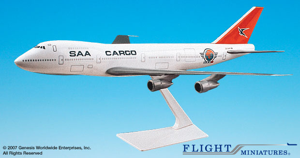 SAA Cargo B747-200 (1:250), Flight Miniatures Snap-Fit Airliners, Item Number BO-74710I-022
