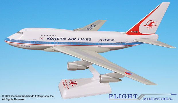 Korean Air Lines 747SP (1:200), Flight Miniatures Snap-Fit Airliners, Item Number BO-747SPH-006