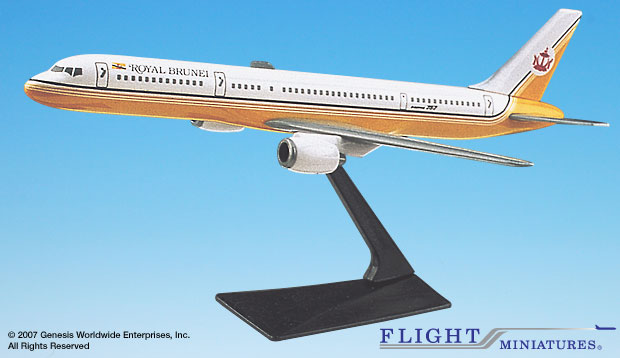 Royal Brunei 757-200 (1:200), Flight Miniatures Snap-Fit Airliners, Item Number BO-75720H-009