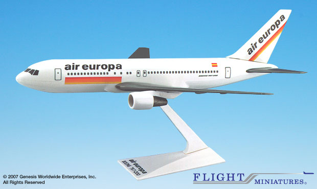 Air Europa 767-200 (1:200), Flight Miniatures Snap-Fit Airliners, Item Number BO-76720H-011