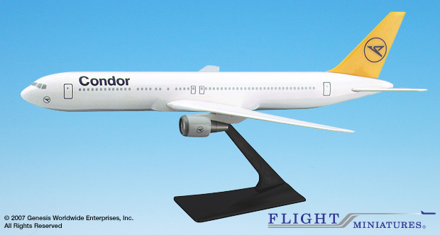 Condor 767-300 (1:200), Flight Miniatures Snap-Fit Airliners, Item Number BO-76730H-028