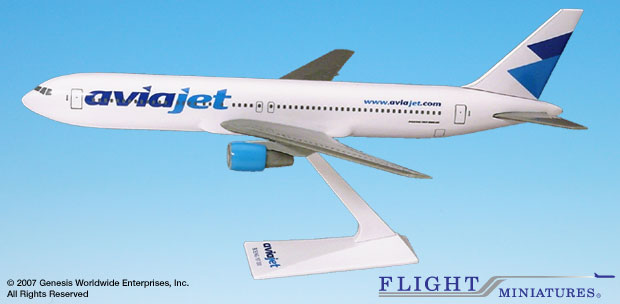 Aviajet 767-300ER (1:200), Flight Miniatures Snap-Fit Airliners, Item Number BO-76730H-043