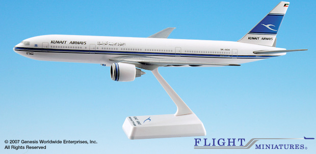 Kuwait 777-200 (1:200), Flight Miniatures Snap-Fit Airliners, Item Number BO-77720H-019