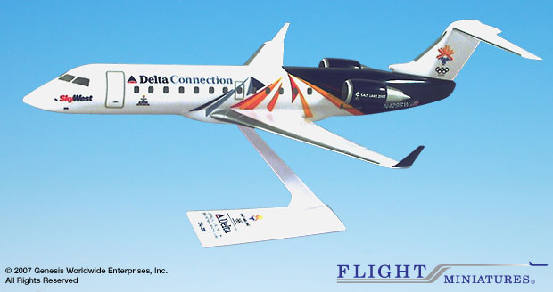 SkyWest Olympic 2002 CRJ200 (1:100)