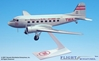 Trans World Airlines (TWA) Victory is in the Air DC-3 (1:100), Flight Miniatures Snap-Fit Airliners, Item Number DC-00300C-007