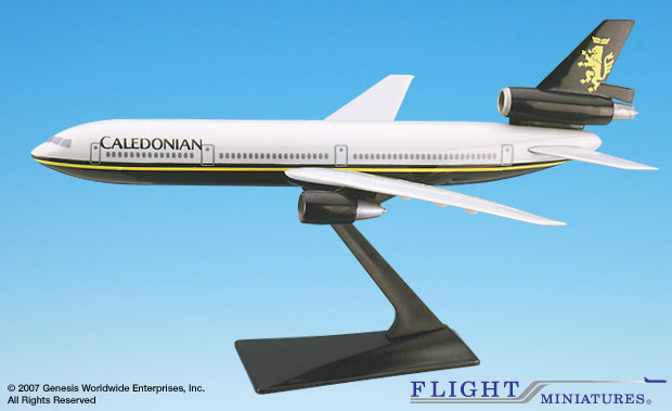 Caledonian DC-10 (1:250), Flight Miniatures Snap-Fit Airliners, Item Number DC-01000I-007