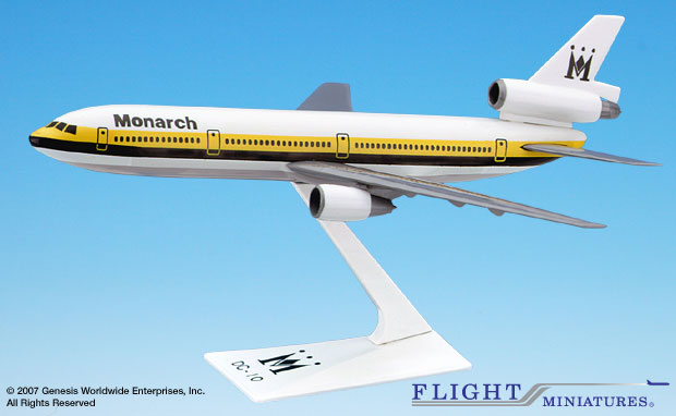 Monarch (84-02) DC-10 (1:250), Flight Miniatures Snap-Fit Airliners, Item Number DC-01000I-012