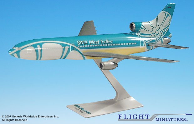BWIA West Indies L-1011 (1:250), Flight Miniatures Snap-Fit Airliners, Item Number LK-10110I-022