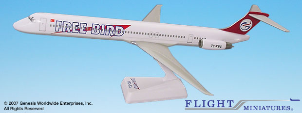 Free Bird MD-83 1:130, Flight Miniatures Snap-Fit Airliners, Item Number MD-08000D-004