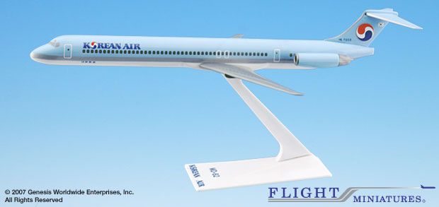 Korean Air (84-Cur) MD-80 (1:200), Flight Miniatures Snap-Fit Airliners, Item Number MD-08000H-015