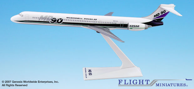 McDonell Douglas House MD-90 (1:200), Flight Miniatures Snap-Fit Airliners, Item Number MD-09000H-001