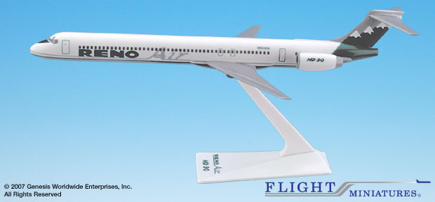Reno Air MD-90 (1:200), Flight Miniatures Snap-Fit Airliners, Item Number MD-09000H-002