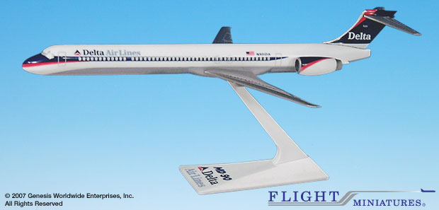 Delta MD-90 Interim Colors (1:200), Flight Miniatures Snap-Fit Airliners, Item Number MD-09000H-005
