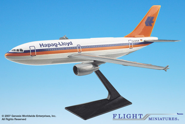 Hapag-Lloyd (86-01) A310-2/300 (1:200), Flight Miniatures Snap-Fit Airliners Item Number AB-31020H-004