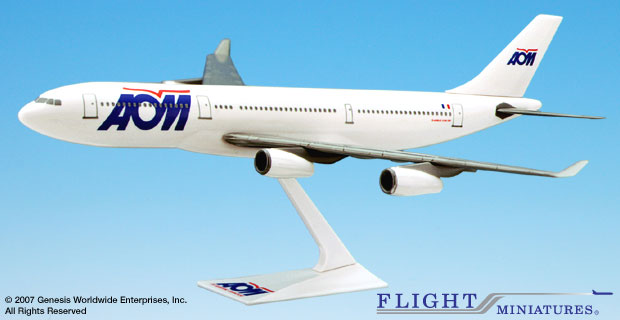 AOM A340-200 (1:200), Flight Miniatures Snap-Fit Airliners Item Number AB-34020H-001