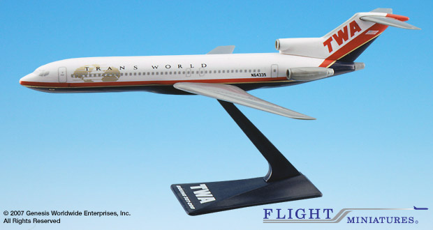 TWA 727-200 (New Colors) (1:200), Flight Miniatures Snap-Fit Airliners Item Number FMTWA022