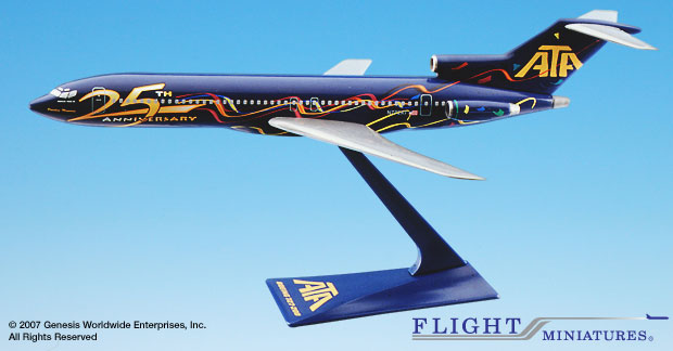ATA 25th 727-200 (1:200), Flight Miniatures Snap-Fit Airliners Item Number BO-72720H-500