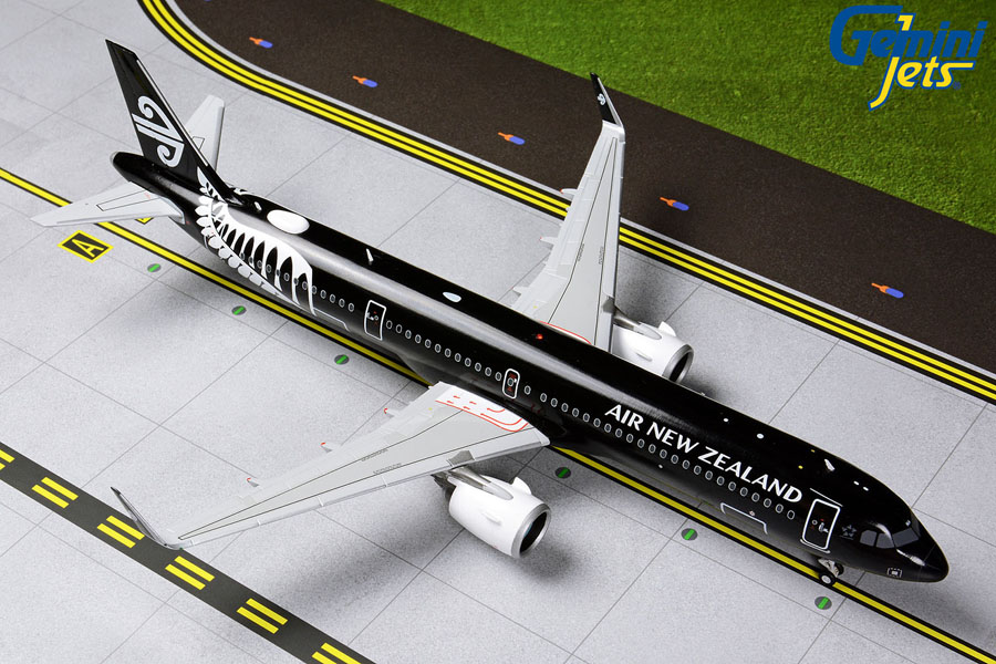 "Air New Zealand A321neo ""All Blacks Livery"" ZK-NNA (1:200) by GeminiJets 200 Diecast Airliners Item Number: G2ANZ801"