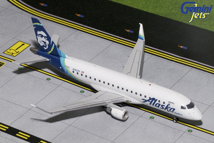 Alaska Airlines ERJ-175 N182SY (1:200) - New Mould, GeminiJets 200 Diecast Airliners, Item Number G2ASA693
