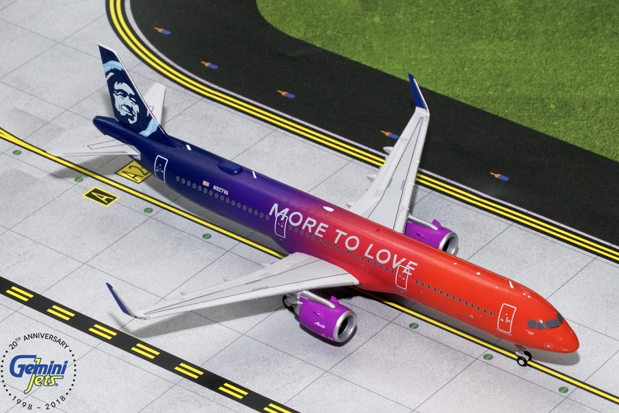 "Alaska Airlines A321neo ""More to Love"" N927VA (1:200)"