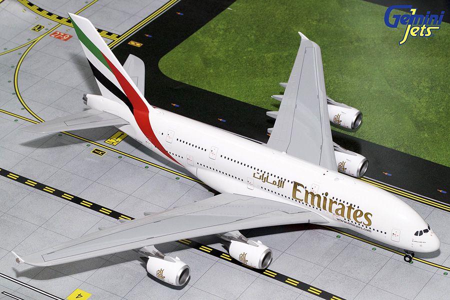 Emirates A380-800 A6-EOZ (1:200), GeminiJets 200 Diecast Airliners Item Number G2UAE728