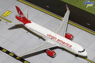 Virgin America A320 with Sharklets N361VA (1:200), GeminiJets 200 Diecast Airliners Item Number G2VRD482