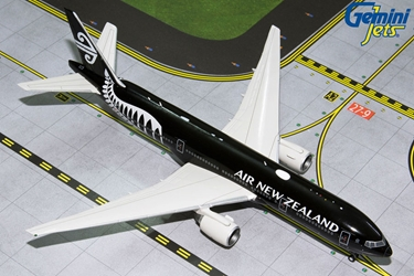 "Air New Zealand B777-200ER ""All Blacks"" ZK-OKH (1:400) by GeminiJets 400 Diecast Airliners Model number GJANZ1840"