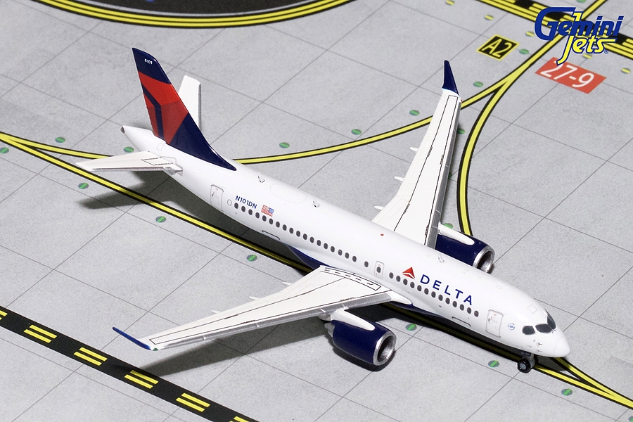 Delta Airlines CS100 N101DN (1:400) - New Mould, GeminiJets 400 Diecast Airliners Item Number GJDAL1701