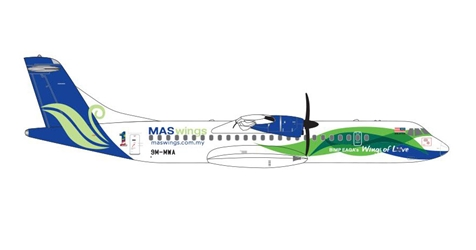 MAS Wings ATR-72-500 9M-MWA (1:400)