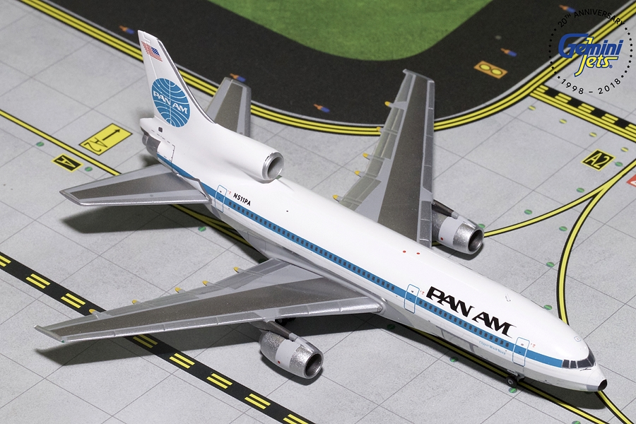 "Pan Am L-1011-500 ""Clipper Black Hawk"" N511PA (1:400) , GeminiJets 400 Diecast Airliners, GJPAA1688"