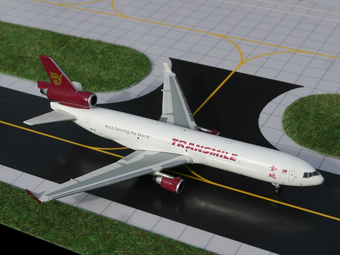 Transmile MD-11F (1:400), GeminiJets 400 Diecast Airliners, Item Number GJTSE739
