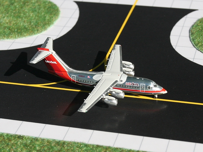 US Air Bae-146-200, Maroon (1:400), GeminiJets 400 Diecast Airliners, Item Number GJUSA762
