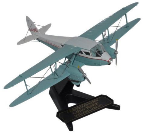 de Havilland DH.89 Dragon Rapide, Scillonia Airways, G-AHAG, Oxford Diecast 1:72 Scale Models, 72DR012