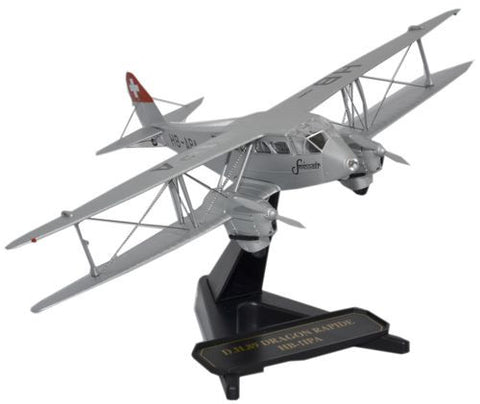 de Havilland DH.89 Dragon Rapide, Swissair (1:72), Oxford Diecast 1:72 Scale Models, Item Number SP073