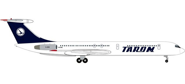 Tarom Ilyushin IL-62M (1:500) by Herpa 1:500 Scale Diecast Airliners