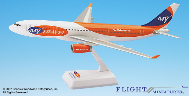 My Travel A330-200 (1:200), Flight Miniatures Snap-Fit Airliners Item Number AB-33020H-011