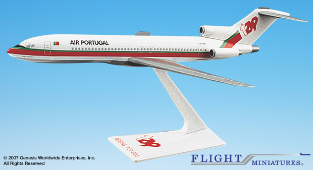 TAP Air Portugal 727-200 (1:200), Flight Miniatures Snap-Fit Airliners Item Number BO-72720H-020